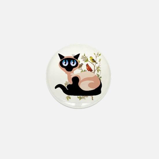 Wide Eyed Siamese Mini Button