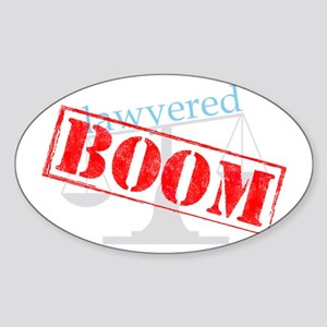 2-boom-dark-big Sticker (Oval)