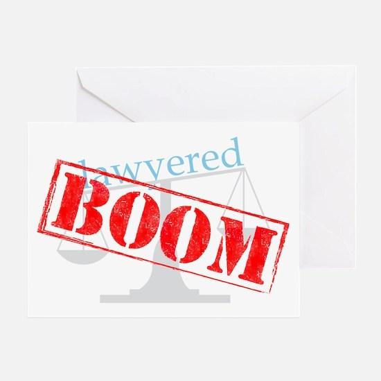 2-boom-dark-big Greeting Card