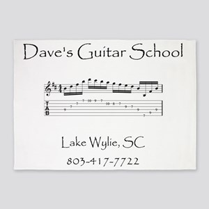 Daves Guitar School front 5'x7'Area Rug