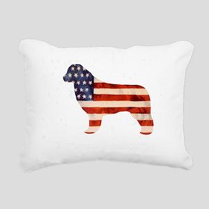 Newfoundland Dog USA Rectangular Canvas Pillow