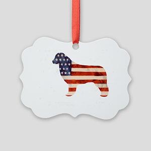Newfoundland Dog USA Picture Ornament