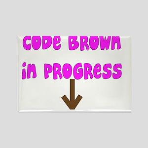 Code Brown In Progress PINK Rectangle Magnet