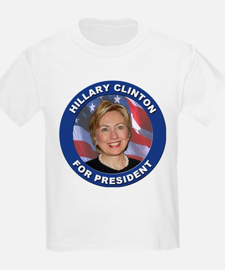 Hillary Clinton for President (Front) Kids T-Shirt