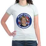 Hillary Clinton for President Jr. Ringer T-Shirt