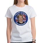 Hillary Clinton for President (Front) Women's T-Sh