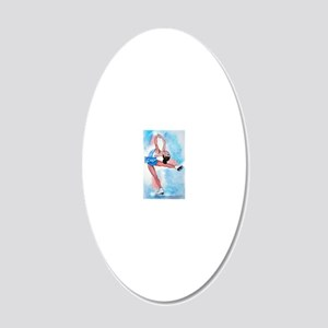layback spin3 20x12 Oval Wall Decal