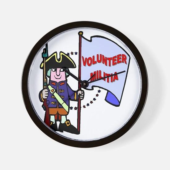 volunteer-militia Wall Clock