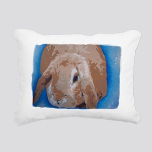 rabbit blue Rectangular Canvas Pillow