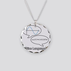 sine-language-revised Necklace Circle Charm