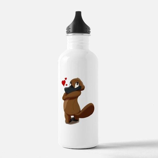 platypus hearts Water Bottle
