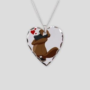 platypus hearts Necklace Heart Charm