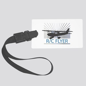 RC Flyer Hign Wing Airplane Luggage Tag