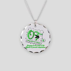 ot puzzlegreen Necklace Circle Charm