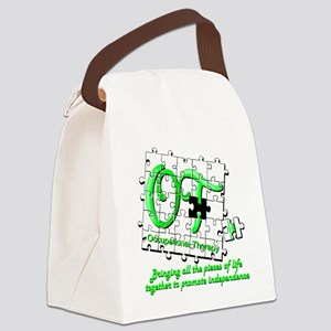 ot puzzlegreen Canvas Lunch Bag