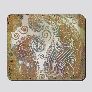 vintage color paisley Mousepad