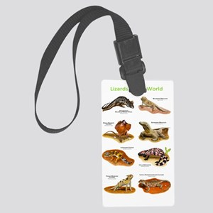 Lizards Large Luggage Tag