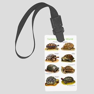 Tortoises of the World Large Luggage Tag
