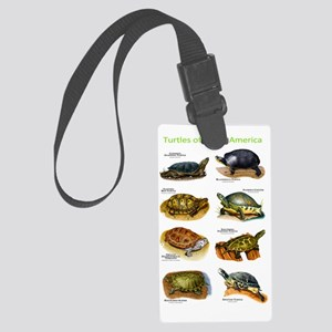 Turtles of North America Large Luggage Tag