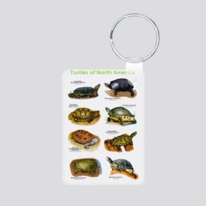 Turtles of North America Aluminum Photo Keychain