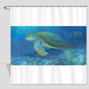 OBX Sea Turtle Shower Curtain