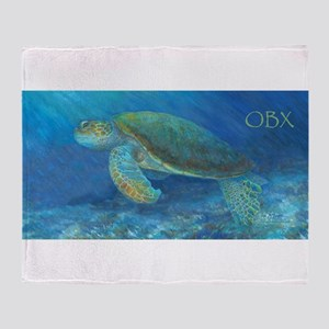 OBX Sea Turtle Throw Blanket