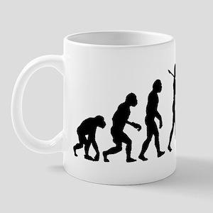 evolution woman-black Mug