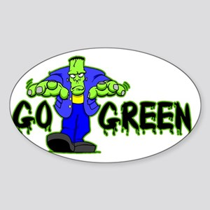 Go_Green_Frank_light Sticker (Oval)