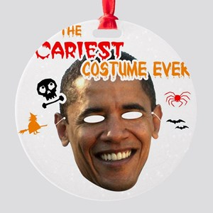 sacariest_costume_obama_dark Round Ornament