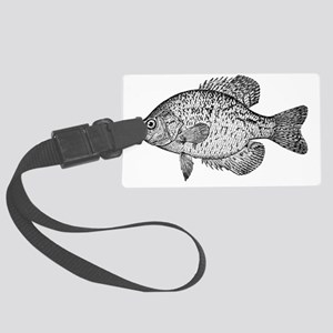 2-crappie Large Luggage Tag