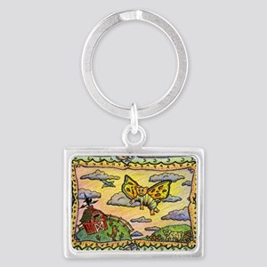 2-flying_pig Landscape Keychain