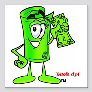 """Mr Deal - Buck Up - Doll Square Car Magnet 3"""" x 3"""""""