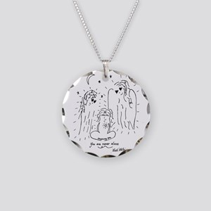 You are Never Alone Keepsake Necklace Circle Charm