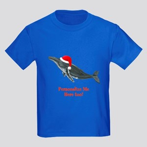 Personalized Whale Kids Dark T-Shirt