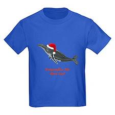 Personalized Whale Kids Dark T-Shirt