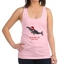 Personalized Whale Racerback Tank Top