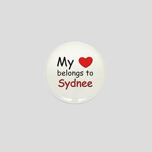 My heart belongs to sydnee Mini Button