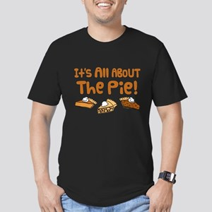 It's All About The Pie Men's Fitted T-Shirt (dark)