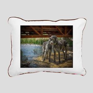 Under The Bridge Rectangular Canvas Pillow