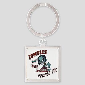 zombie---- Square Keychain