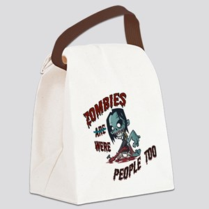 zombie---- Canvas Lunch Bag