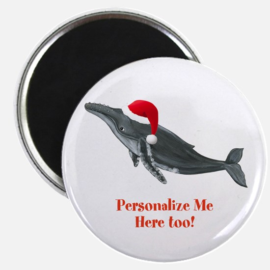 Personalized Christmas Whale Magnets