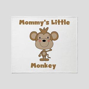 Mommy's Little Monkey Throw Blanket