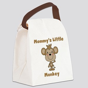 Mommy's Little Monkey Canvas Lunch Bag
