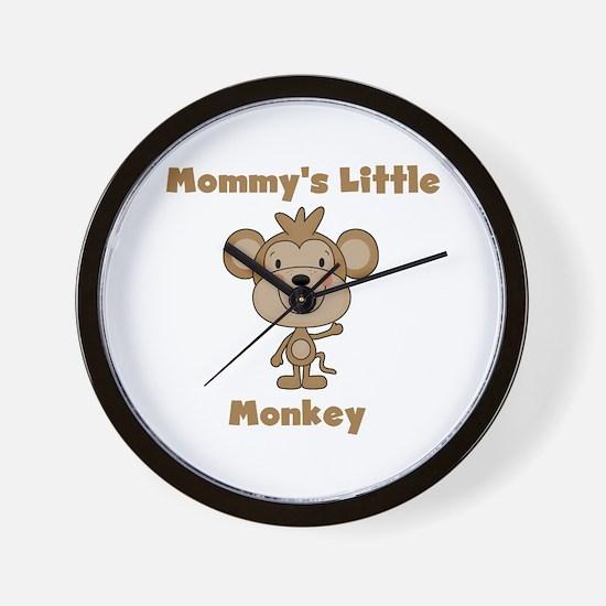 Mommy's Little Monkey Wall Clock