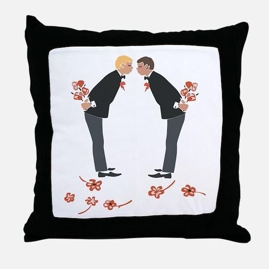 """""""Gay Wedding Couple"""" Throw Pillow"""