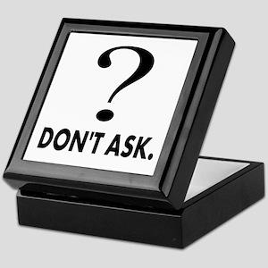 Question Mark, Dont Ask Keepsake Box