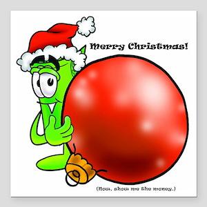 "Mr Deal - Christmas - Me Square Car Magnet 3"" x 3"""