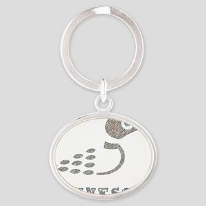 LoonTshirt Oval Keychain
