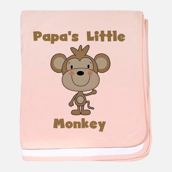 Papa's Little Monkey baby blanket